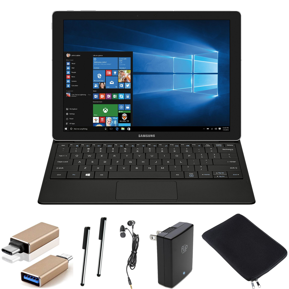 "Samsung Galaxy TabPro S 12"" 128GB (Wi-Fi) Black Accessory..."