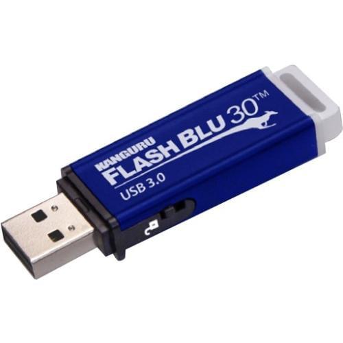 Kanguru 128GB FlashBlu30 USB 3.0 Flash Drive w/ Physical Write Protect Switch