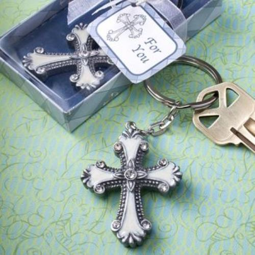 FashionCraft Cross Design Keychain Favors  pack of 144