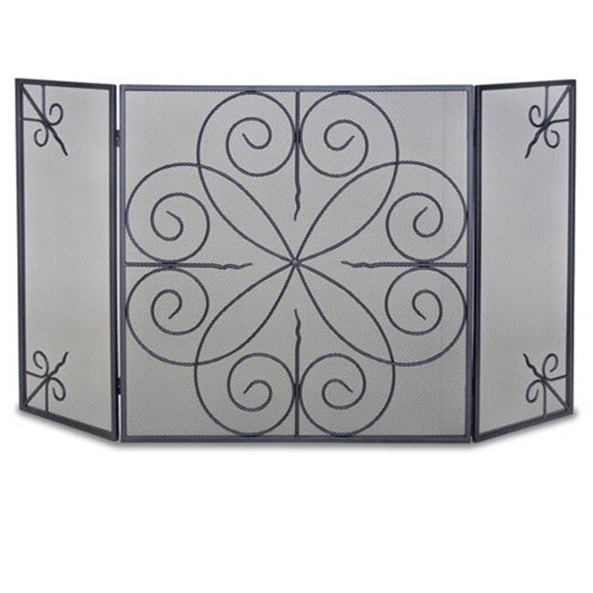 Napa Forge 19235 3 Panel Elements Fireplace Screen