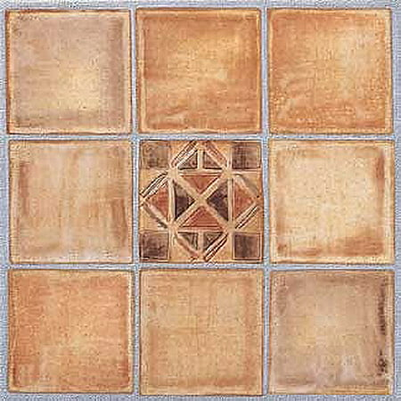 Home Dynamix Madison Vinyl Tile Area Rugs 2663 Brown