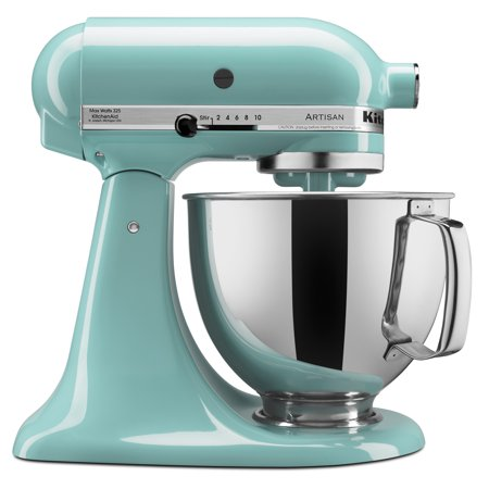 KitchenAid KSM150PSAQ Artisan Series 5-Quart Tilt-Head Stand Mixer, Aqua Sky (Kitchenaid Mixer Covers 5 Quart)