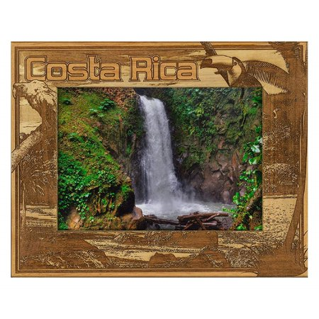 Costa Rico Laser Engraved Wood Picture Frame (5 x