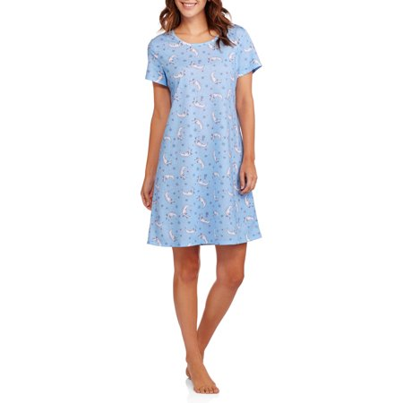 Secret Treasures Women's Pajama Short Sleeve Sleep Shirt