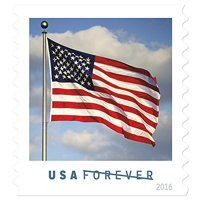 US Flag Book of 20 USPS Forever Postage Stamps Old Glory Patriotic