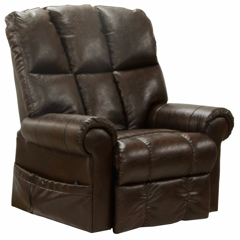 Catnapper Stallworth Leather Power Lift Full Lay Out Recliner