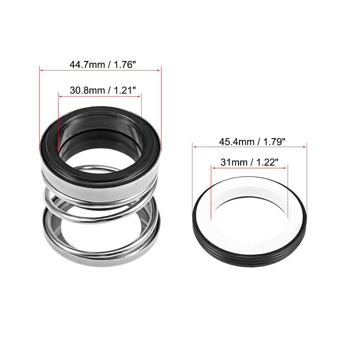 Mechanical Shaft Seal Replacement for Pool Spa Pump 2pcs 108-30 - image 3 de 4