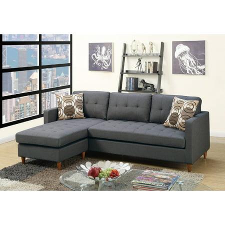 Astounding Mendosia Reversible Tufted Sectional Sofa Walmart Com Inzonedesignstudio Interior Chair Design Inzonedesignstudiocom