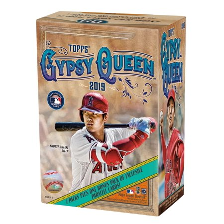 2019 Topps Gypsy Queen MLB Baseball Value Box- 7 Foil Packs | 1 Bonus Pack | Featuring Green Parallels, Autographs and top MLB Prospects Cards