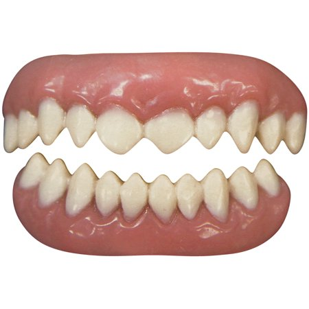 Tinsley Transfers Cannibal 2pc False Teeth FX, White Pink - Fx Wax Halloween