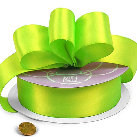 """7/8"""" X 50 Yards Key Lime Double Face Satin Ribbon by Paper Mart"""