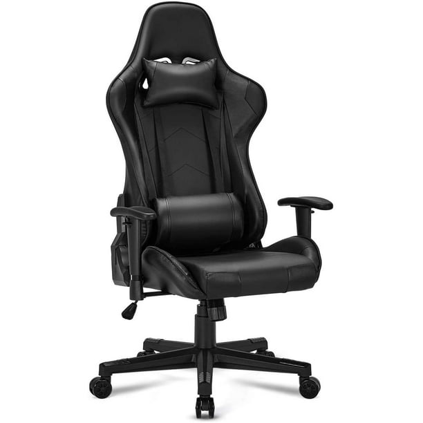 Erommy Gaming Erommy Chair Computer Game Chair Office Chair Ergonomic High Back PC Desk Chair Height Adjustment Swivel Rocker with Headrest and Lumbar Support Lumbar Pillow (Black)