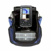 Lowrance 000-11821-001 Elite-4 Chirp Fishfinder-Chartplotter Ice Machine With 83-200 KHz Ice Transducer