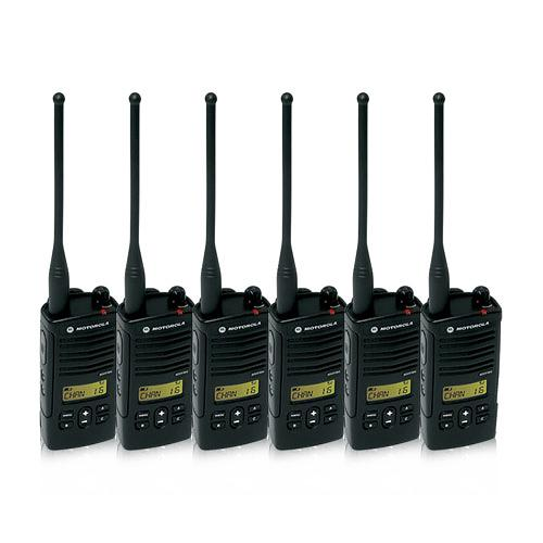 Motorola RDU4160D (6 Pack) RDX Business Series Two-Way UHF Radio w/ 16 Channel