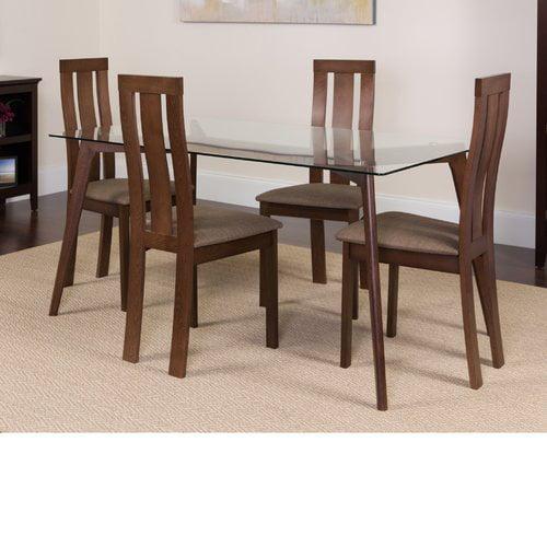 Winston Porter Huskins 5 Piece Solid Wood Dining Set