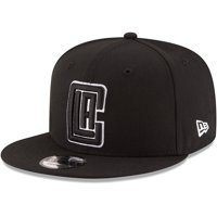 LA Clippers New Era Black & White Logo 9FIFTY Adjustable Snapback Hat - Black - OSFA