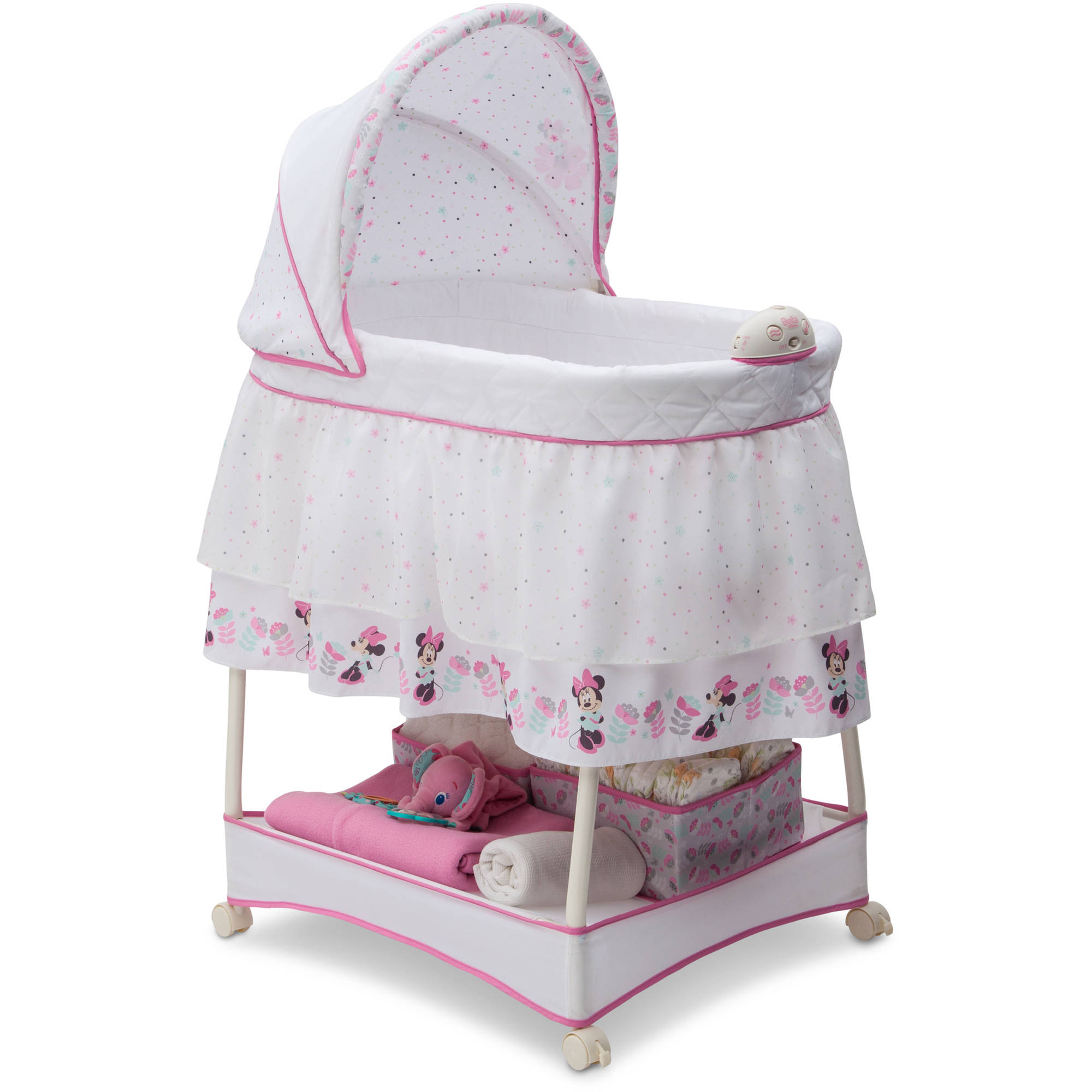 Delta Children Gliding Bassinet, Minnie Boutique