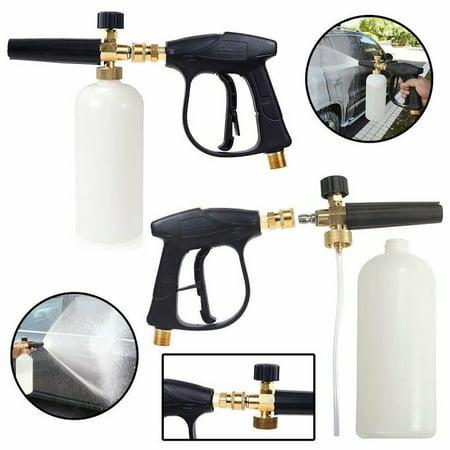 High Pressure Washer Gun Snow Foam Lance Car Cleaning Gun Cle Aner With Bottle Pressure Snow Foam Washer Jet Car Wash Adjustable Lance Soap Spr Ay