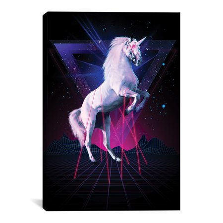 "Unicorn Rave Artwork | Choose from Canvas or Art Print | Living Room, Bedroom, Office, Bathroom Wall Decor Art Ready to Hang Para El Hogar Decoracion | 48"" x - Decoracion Para Halloween De Papel"