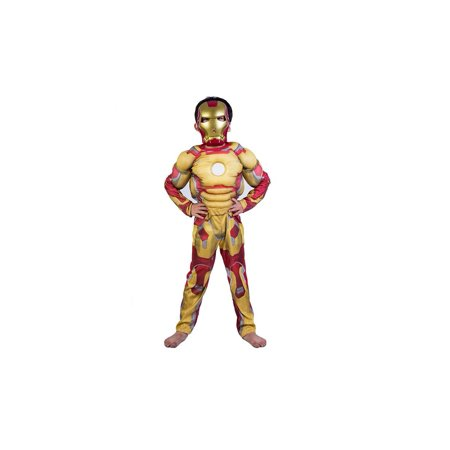 Iorn Man Costume (Boy's Super Hero Iron man Halloween Costume 3 Piece)