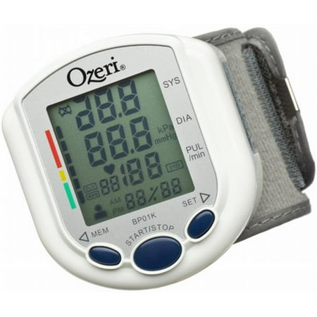 - Ozeri BP01K CardioTech Pro Series Digital Blood Pressure Monitor with Heart Health and Hypertension Indicator