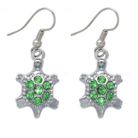 cocojewelry Tiny Lime Green Turtle Tortoise Pet Charm Dangle Hook Earrings Jewelry Charm Earrings Jewelry