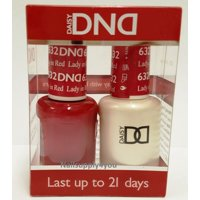 DND Nail Polish Gel & Matching Lacquer Set (632 - Lady In Red)