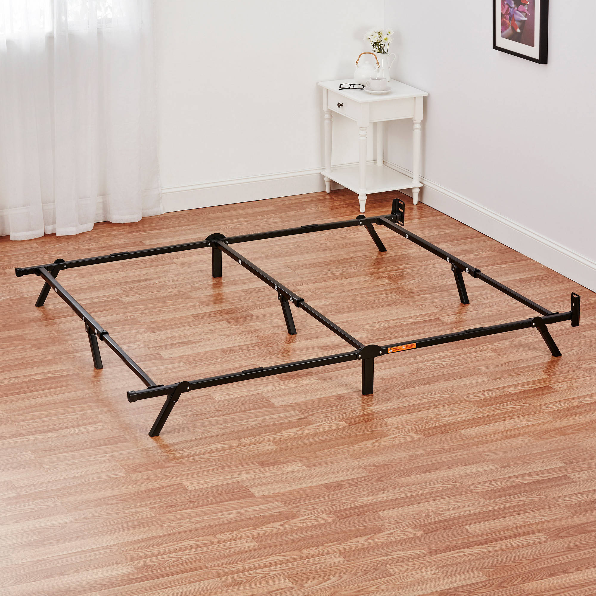 "Metal Bed Frames mainstays 7"" adjustable metal bed frame, easy no-tools assembly"