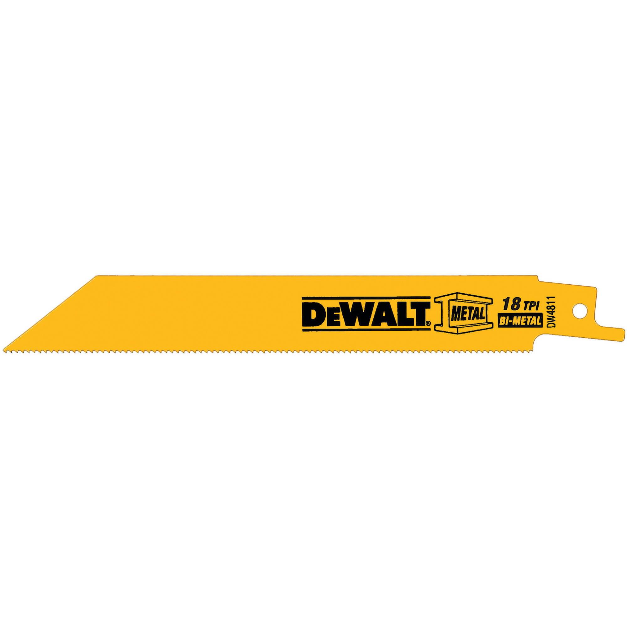 DeWalt® 18TPI Bi-Metal Blades 5 ct Pack