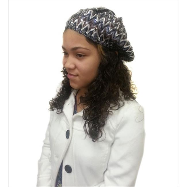 CoverYourHair 50813 Brown Multi Colored Sequin Beret