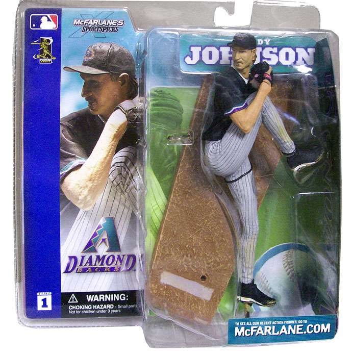 McFarlane MLB Sports Picks Series 1 Randy Johnson Action Figure [Black Jersey]