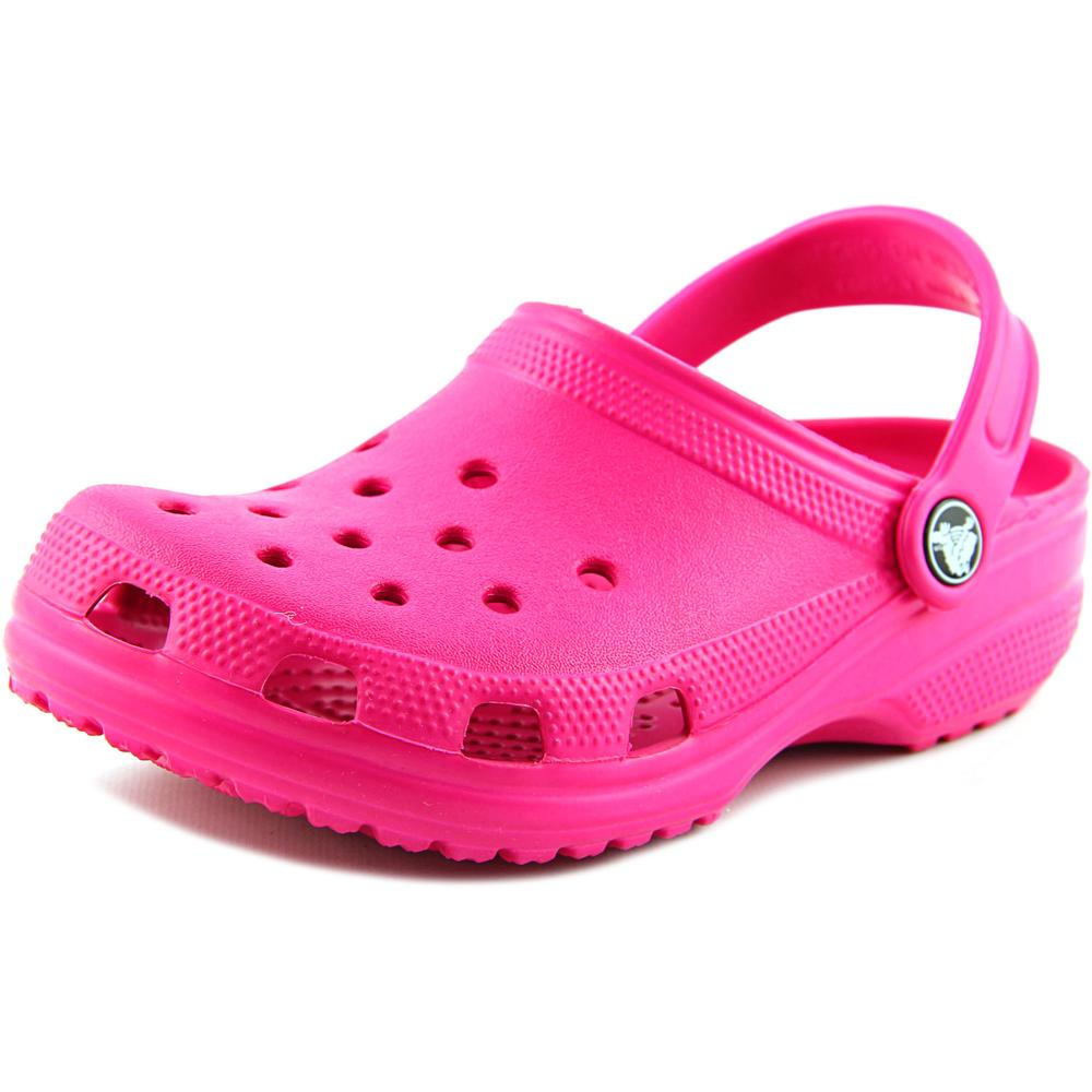 Crocs Classic Clog K Youth Round Toe Synthetic Pink Clogs by Crocs