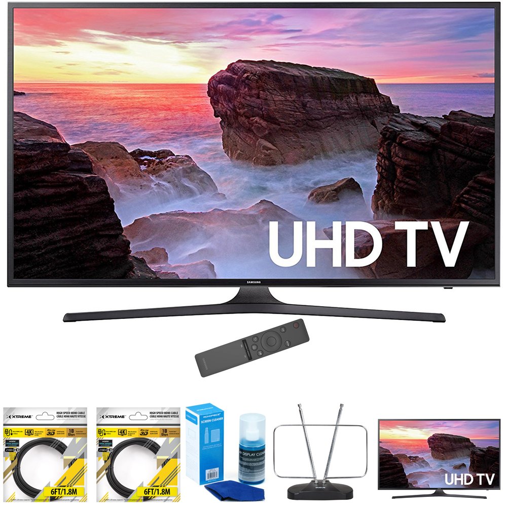 Samsung 74.5-Inch 4K Ultra HD Smart LED TV 2017 Model (UN75MU6300) with 2x 6ft High Speed HDMI Cable, Screen... by Samsung