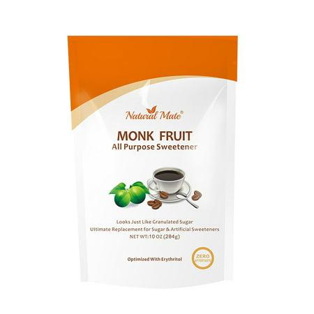 All Purpose Granular Monkfruit Sweetener (with Erythritol), 10oz/Pack, 2x Sugar Sweetness (Pack 5)