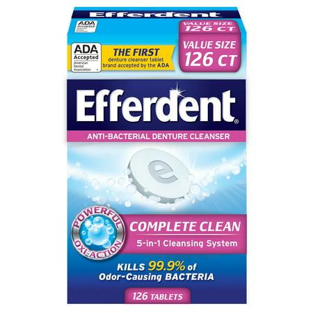 Efferdent Anti-Bacterial Denture Cleanser, 126 (Efferdent Tablet Cleanser)