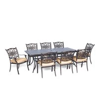 Carolina Factory Direct Springfield 9-Piece Dining Set with Eight Stationary Dining Chairs and an Extra-Long Dining Table