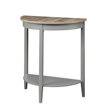 ACME Joey Half Moon Console Table in Gray Oak and Gray