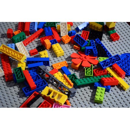 Lenox Decor (Lego Disorder Colors Build Up Chaos Toys Poster Print 24 x)