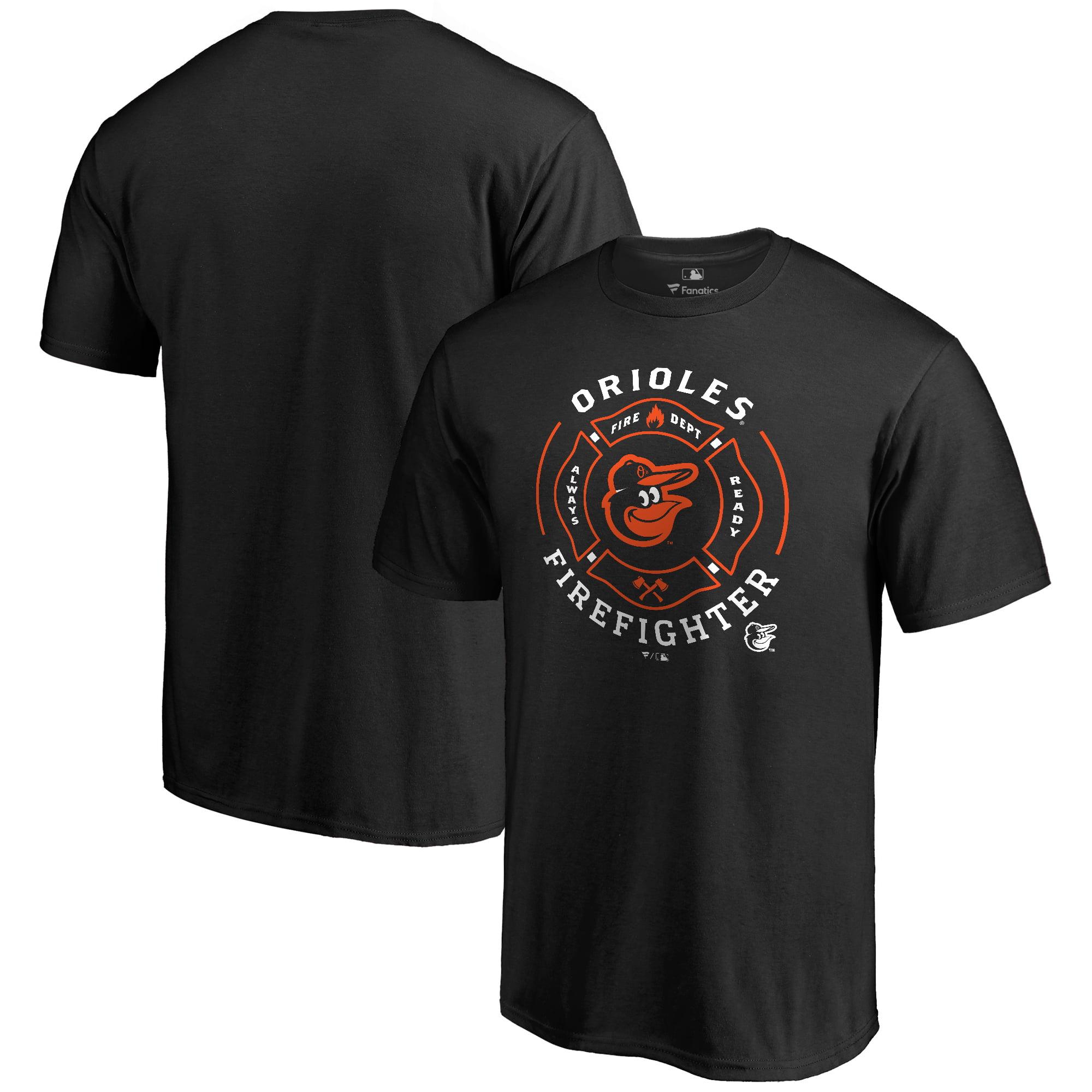 Baltimore Orioles Firefighter T-Shirt - Black