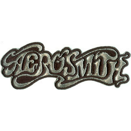 AEROSMITH Chrome PATCH, Officially Licensed Products Classic Rock Iron-On / Sew-On, 1.5