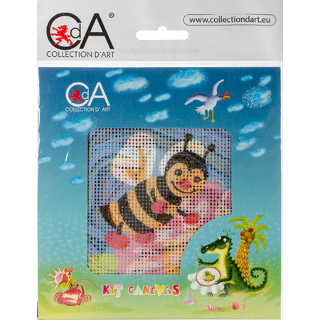 Honey Bee - Collection D'Art Stamped Needlepoint Kit 15X15cm