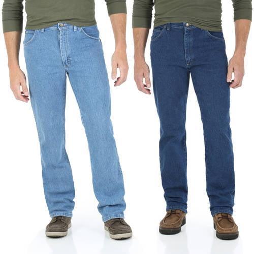 Wrangler - Men's Regular Fit Jeans with Comfort Flex Waistband, 2 Pack