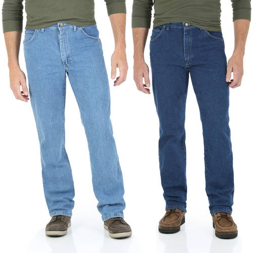 Wrangler Mens Regular Fit Jean with Comfort Flex Waistband 2-Pack