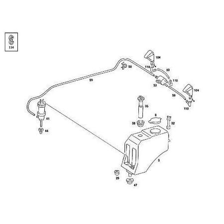 Fluid Cup - 1248690072 Mercedes Windshield Washer Fluid Reservoir Cap by Genuine