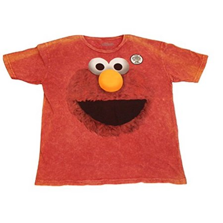b7577497 Sesame Street Men's Graphic Short Sleeve T-Shirt Tee Shirt Cookie Monster  Elmo Grover Oscar the Grouch Ernie Bert Big Bird (XX-Large, Red Distressed  Big ...