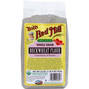 Bob's Red Mill Organic Buckwheat Flour, 22 oz (Pack of 4)