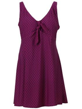 e2ab535700530 Product Image Women's Plus Size One Piece Swimdress Swimsuit Swimwear, Black  Purple, ...