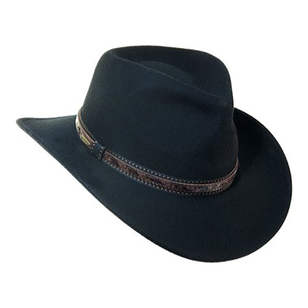SCALA - Dorfman Pacific Scala Men s Crushable Wool Outback Hat Black -  Walmart.com 7bfcd1a6d76