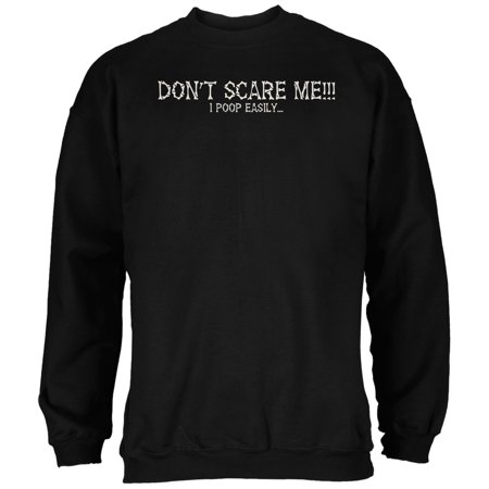 Halloween Scare Poop Easily Black Adult Sweatshirt