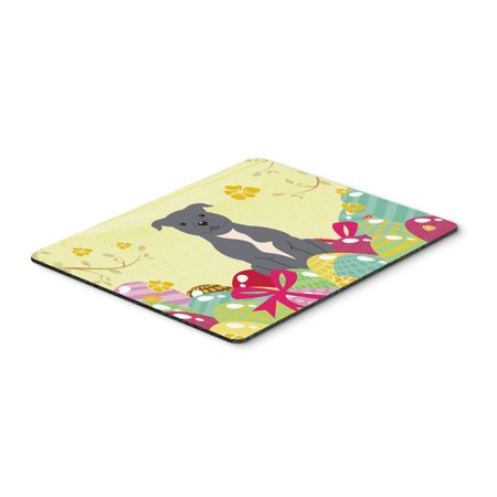Easter Eggs Staffordshire Bull Terrier Blue Mouse Pad  Hot Pad Or Trivet Bb6046mp